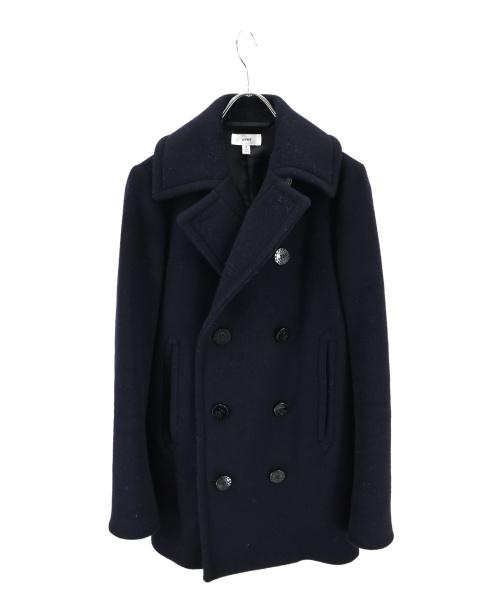 HYKE(ハイク)HYKE (ハイク) Pコート ネイビー サイズ:2の古着・服飾アイテム