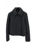 EMPORIO ARMANI(エンポリオアルマーニ)の古着「エンボス加工レザージャケット」|ブラック