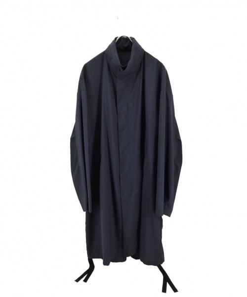 EN ROUTE(アンルート)EN ROUTE (アンルート) ウールエステルトロ ジップ コート ブラック サイズ:2の古着・服飾アイテム