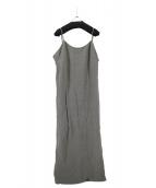 Plage(プラージュ)の古着「Linen キャミワンピース」|グレー