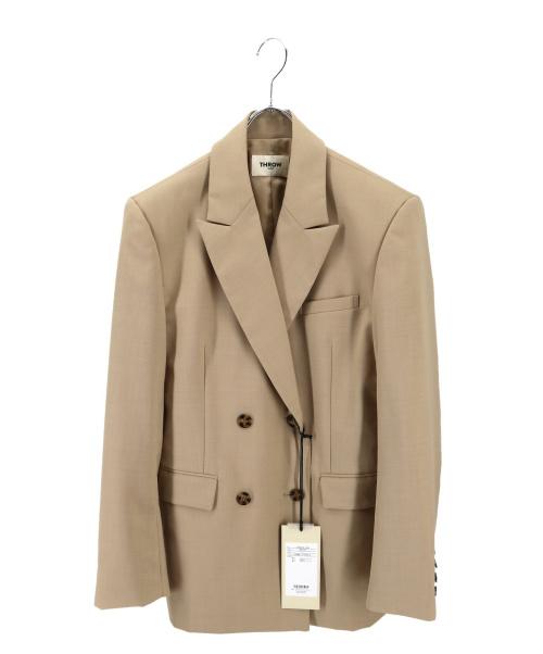 THROW by SLY(スロウバイスライ)THROW by SLY (スロウバイスライ) ダブルブレステッドジャケット ベージュ サイズ:1の古着・服飾アイテム