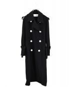 LE CIEL BLEU(ルシェルブルー)の古着「ルーズドレープトレンチコート」 ブラック