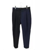 breechez(ブリーチェズ)の古着「切替パンツ」|ネイビー×ブラック