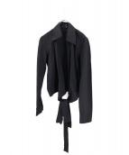 GUCCI(グッチ)の古着「カシュクールデザインシャツ」|ブラック