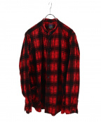 BRU NA BOINNE(ブルーナボイン)の古着「R・Eチェックスナフシャツ」|レッド×ブラック