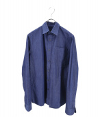 PRADA(プラダ)の古着「ボタンダウンシャツ」|インディゴ