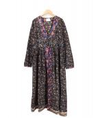 lapeau de gem(ラポドゥジェム)の古着「総柄ワンピース」|ブラック