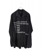 syte(サイト)の古着「ブロードオープンカラーシャツ」 ブラック