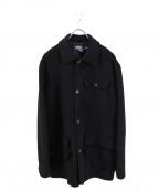POLO RALPH LAUREN(ポロ・ラルフローレン)の古着「ウールコート」|ブラック