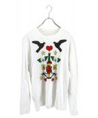 lucien pellat-finet(ルシアン・ペラフィネ)の古着「プリントカットソー」|ホワイト