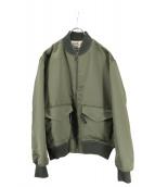 DROLE DE MONSIEUR(ドロールドムッシュ)の古着「サテンボンバージャケット」|グリーン