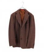 ISAIA(イザイア)の古着「3Bウールジャケット」 ブラウン