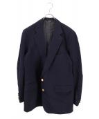 【古着】POLO RALPH LAUREN(ポロラルフローレン)の古着「オールド金釦ブレザー  polo universityタグ」|ネイビー