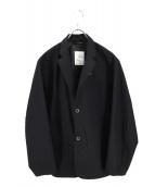 DESCENTE PAUSE(デサントポーズ)の古着「シームレス2Bジャケット」 ブラック