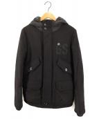 G-STAR RAW(ジースターロウ)の古着「フーデッドジャケット」|ブラック