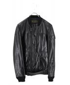 UNDERCOVERISM(アンダーカバイズム)の古着「リブカウレザージャケット」|ブラック