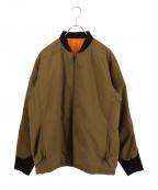 BURLAP OUTFITTER(バーラップアウトフィッター)の古着「MA-1ジャケット」|ベージュ