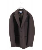 MAISON SPECIAL(メゾンスペシャル)の古着「ダウンファブリックテーラードジャケット」|グレー