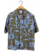 reyn spooner(レイン スプナー)の古着「別注アロハシャツ」|グリーン×ブルー