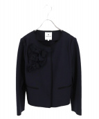 LANVIN en Bleu(ランバンオンブルー)の古着「メニーリボンジャケット」 ネイビー