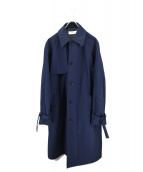 EN ROUTE(アンルート)の古着「ツイルナイロンオックストレンチコート」|ネイビー