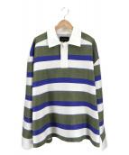 BOTTER(ボッター)の古着「ポロシャツ 19SS」|グリーン×ホワイト