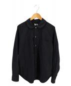 BLACK COMME des GARCONS(ブラックコムデギャルソン)の古着「丸襟シャツ AD2019」 ブラック