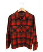 TENDERLOIN(テンダーロイン)の古着「ウールチェックシャツ」|レッド×ブラック