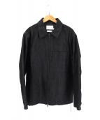 ()の古着「裏地キルティングデニムジャケット」 ブラック