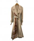 eimy istoire(エイミーイストワール)の古着「スカーフポイントソフトトレンチコート」|ベージュ