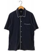 stussy(ステューシー)の古着「パジャマシャツ 半袖シャツ」|ネイビー×ホワイト