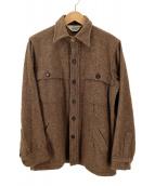 ()の古着「60'S-70'Sウールシャツジャケット」 ブラウン