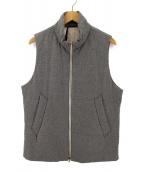 ()の古着「中綿ベスト」|グレー