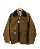 ()の古着「襟切替ハンテイングジャケット」 ベージュ