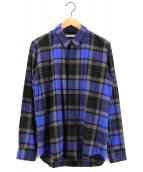 JOHN LAWRENCE SULLIVAN(ジョンローレンスサリバン)の古着「ウールチェックシャツ」|ブルー