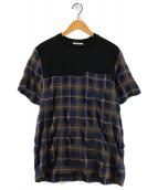 ()の古着「切替ポケットTシャツ」 ブラック
