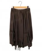 TAO COMME des GARCONS(タオ コムデギャルソン)の古着「リボンデザインスカート AD2009」|グレー