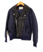 NOMA t.d.(ノーマティーディー)の古着「切替MA-1ジャケット」 ネイビー