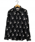 sss world corp(トリプルエス ワールドコープ)の古着「総柄シャツ」|ブラック