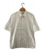 HELMUT LANG(ヘルムートラング)の古着「プルオーバーストライプシャツ」|ホワイト