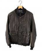 TMT(ティーエムティー)の古着「レザージャケット」|ブラック