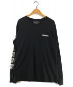 ()の古着「FUCK EM! 袖ロゴ長袖カットソー」 ブラック
