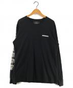 NEIGHBORHOOD(ネイバーフッド)の古着「FUCK EM! 袖ロゴ長袖カットソー」|ブラック