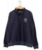()の古着「プルオーバーシャツ」 ネイビー