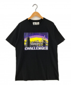 CHALLENGER()の古着「NY CITY LOGO TEE プリントTシャツ」|ブラック
