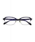OLIVER PEOPLES(オリバーピープルズ)の古着「伊達眼鏡 peterson」|ブルー