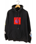 DIESEL(ディーゼル)の古着「プルオーバーパーカー Haute patch hoodie」|ブラック
