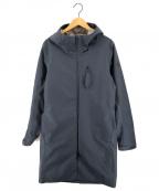 DESCENTE ALLTERRAIN(デザイント オルテライン)の古着「シェルフーデットコート Aero」|ネイビー
