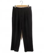CellarDoor(セラードアー)の古着「2プリーツタックパンツ」|ブラック
