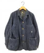 PHIGVEL MAKERS(フィグベルマーカーズ)の古着「デニムカバーオール ジャケット」|インディゴ